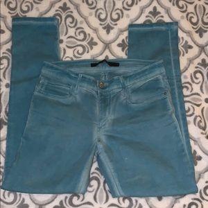 Joe's Jeans ankle stretch teal jeans